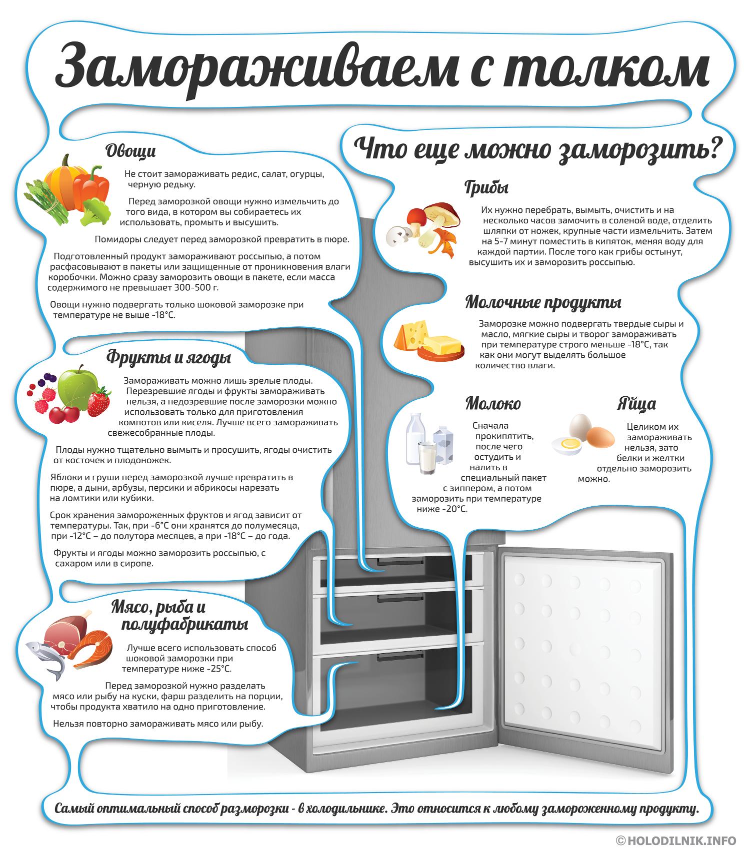 Инфографика: Правила заморозки